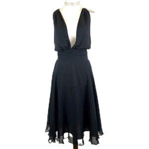 Vintage black silk Marilyn Monroe halter dress